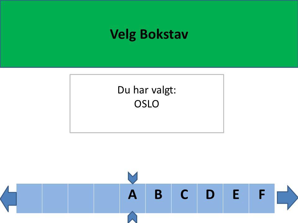 YZÆØÅ Velg Bokstav Du har valgt: OSL