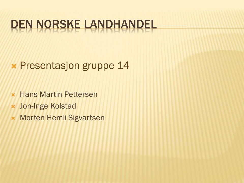  Presentasjon gruppe 14  Hans Martin Pettersen  Jon-Inge Kolstad  Morten Hemli Sigvartsen