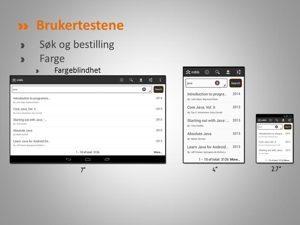 Brukertestene Søk og bestilling Farge Fargeblindhet http://colorfilter.wickline.org/