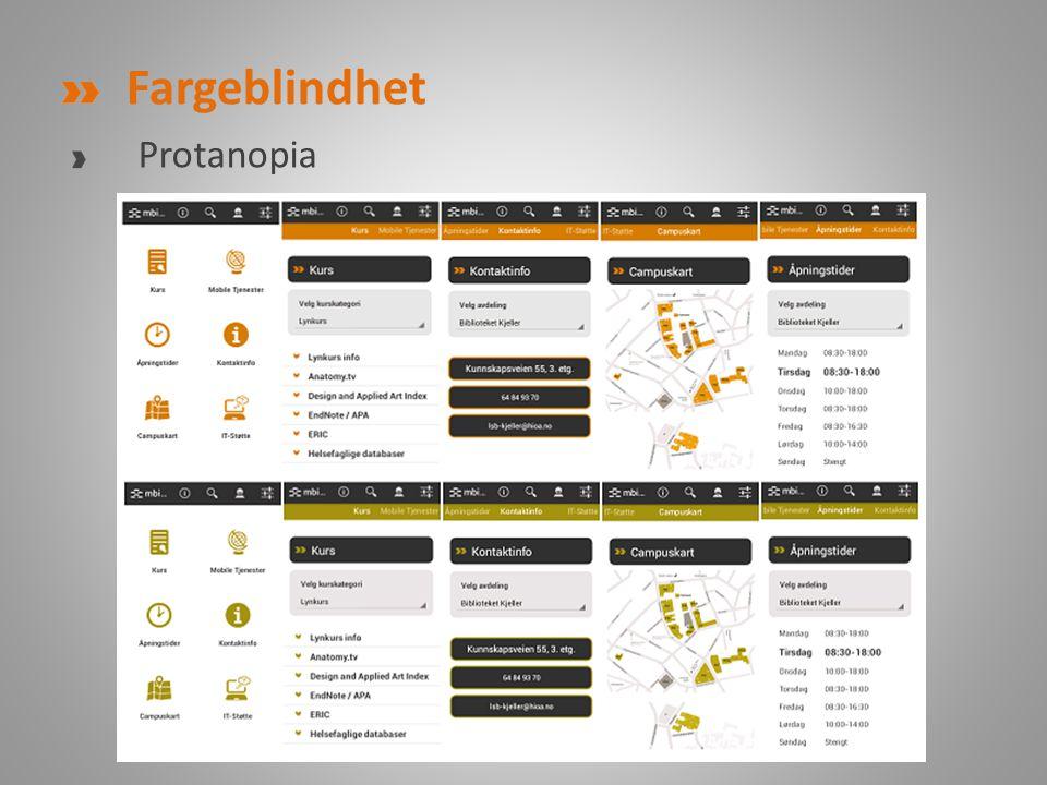 Fargeblindhet Protanopia