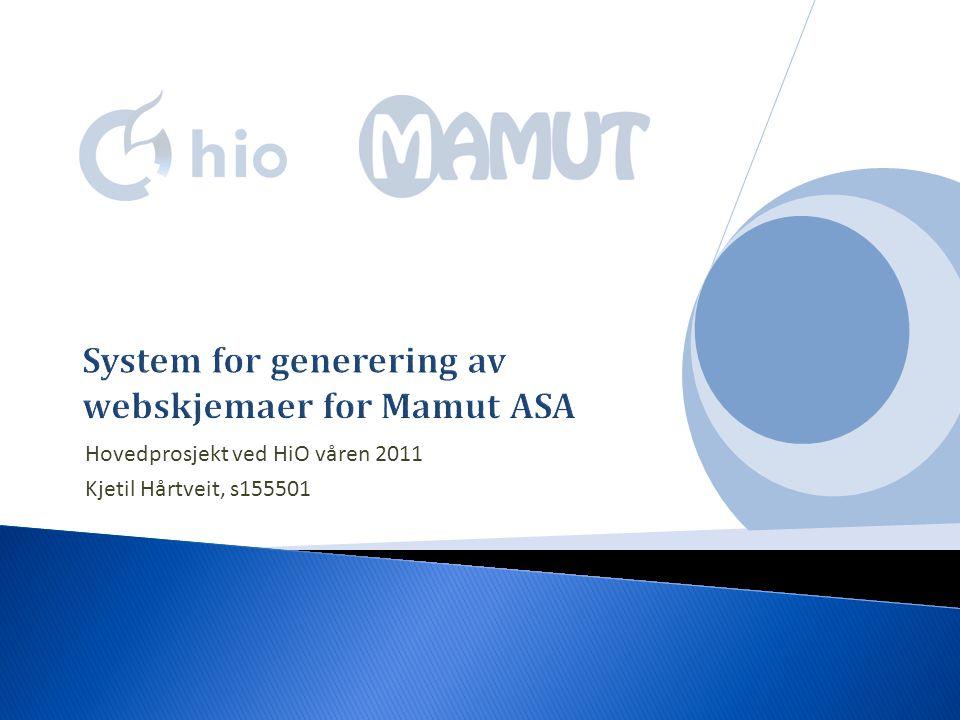 Hovedprosjekt ved HiO våren 2011 Kjetil Hårtveit, s155501