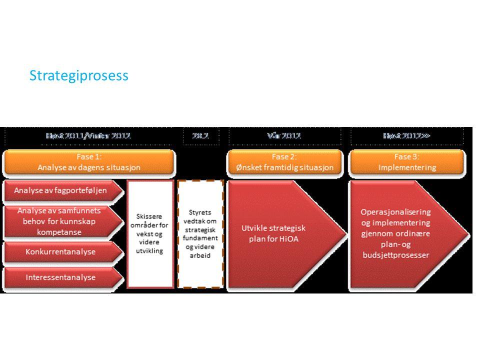Dokument 1. fase (10. febr.) Identifikasjon av — mulige satsningsområder — mulige utfordringer