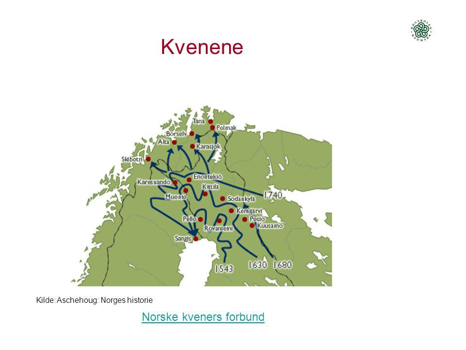 Kvenene Norske kveners forbund Kilde: Aschehoug: Norges historie