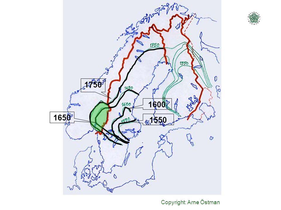 Copyright: Arne Östman 1550 1600 1650 1750