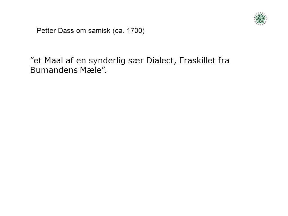 Norsk minoritetsspråkspolitikk samisk  grunnlovsfestet vern, klare internasjonale forpliktelser, (begrenset) offisiell status språk i de andre nasjonale minoritetene  svakere vern, men internasjonale forpliktelser «innvandrerspråk»  svakt vern, omfattes av en generell integrerings- politikk og noen relativt vage internasjonale forpliktelser