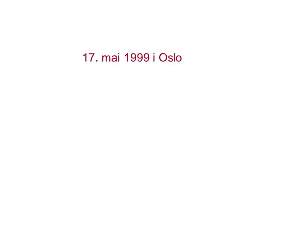 17. mai 1999 i Oslo