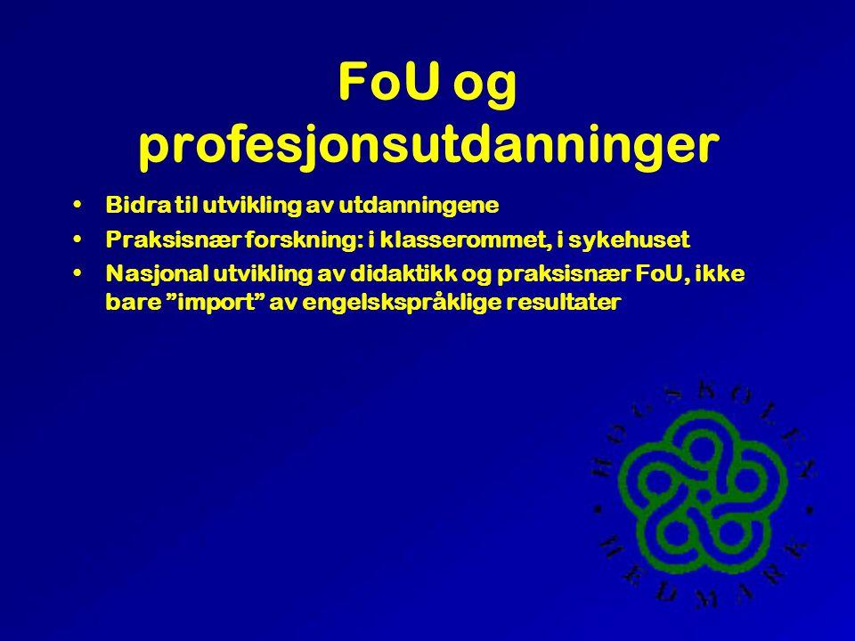 Resultatmål Referee +25% Andre +50% Populær +50% Sentral i NFR prosjekt Minst et EU prosjekt Formulere og finansiere minst to satsingsområder ut over knutepunkt næringsrettede prosjekter (SMB) post-doc , Dr/KAU Konferanser