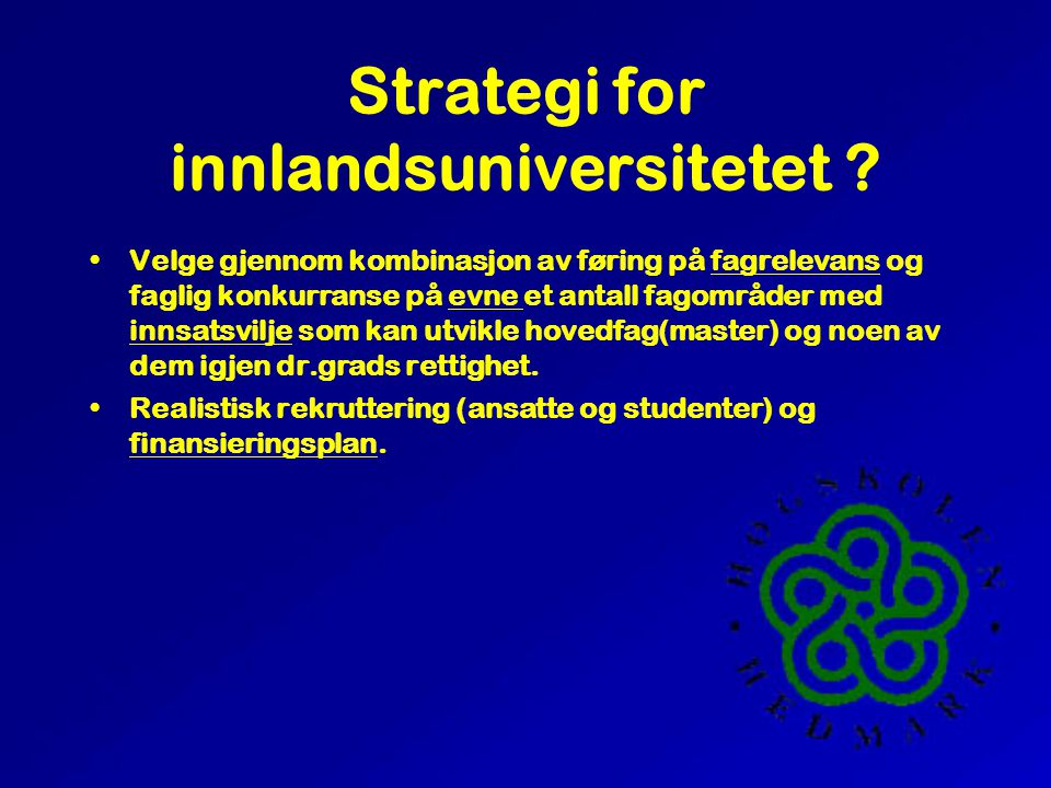Universitetet i Hedmark.