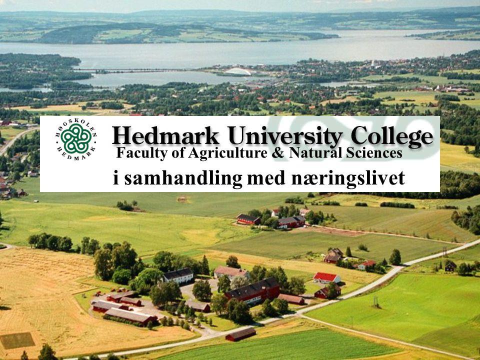 Kommunikasjonskonferansen 16.06.05 Faculty of Agriculture & Natural Sciences i samhandling med næringslivet
