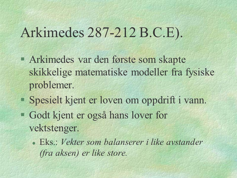 Arkimedes 287-212 B.C.E).
