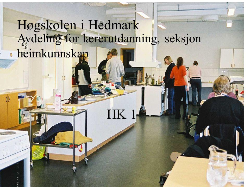 Høgskolen i Hedmark Avdeling for lærerutdanning, seksjon heimkunnskap HK 1