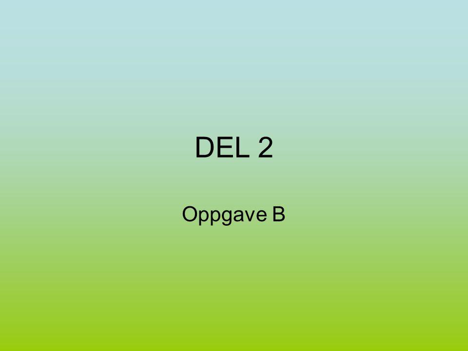 DEL 2 Oppgave B