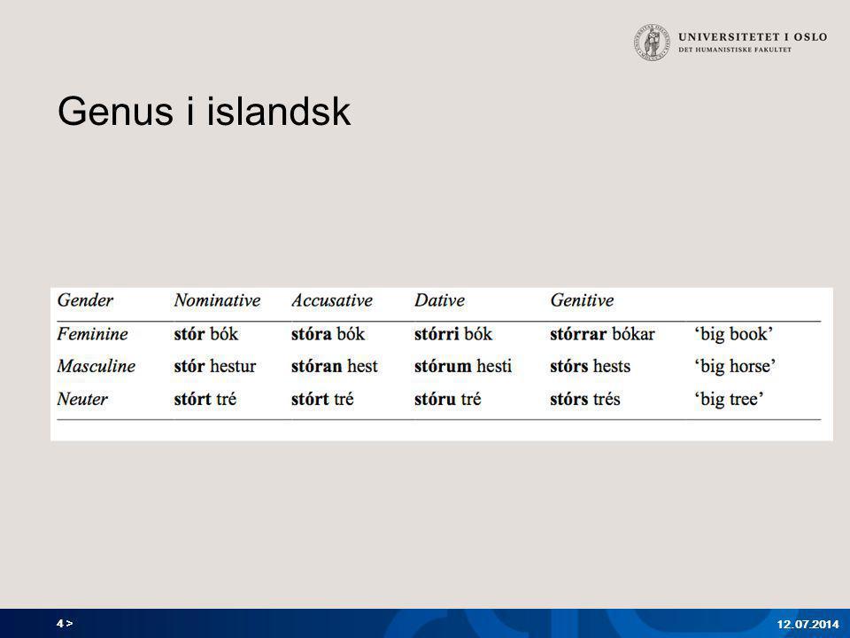 4 > Genus i islandsk 12.07.2014