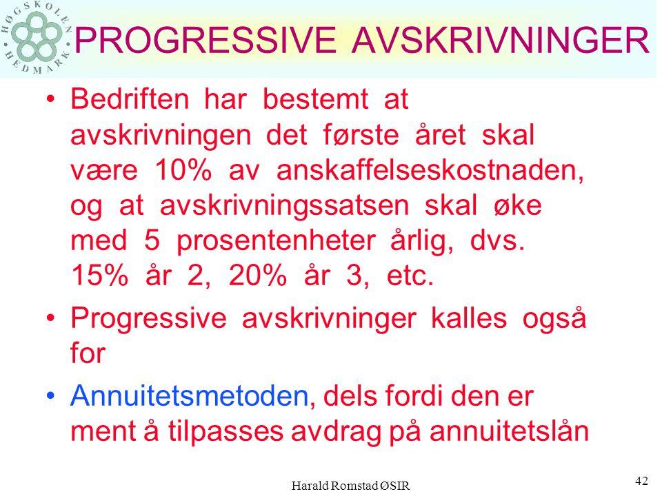 Harald Romstad ØSIR 41 Årssiffermedtoden Summen av årssifferne blir: 1 + 2 + 3 + 4 + 5 = 15