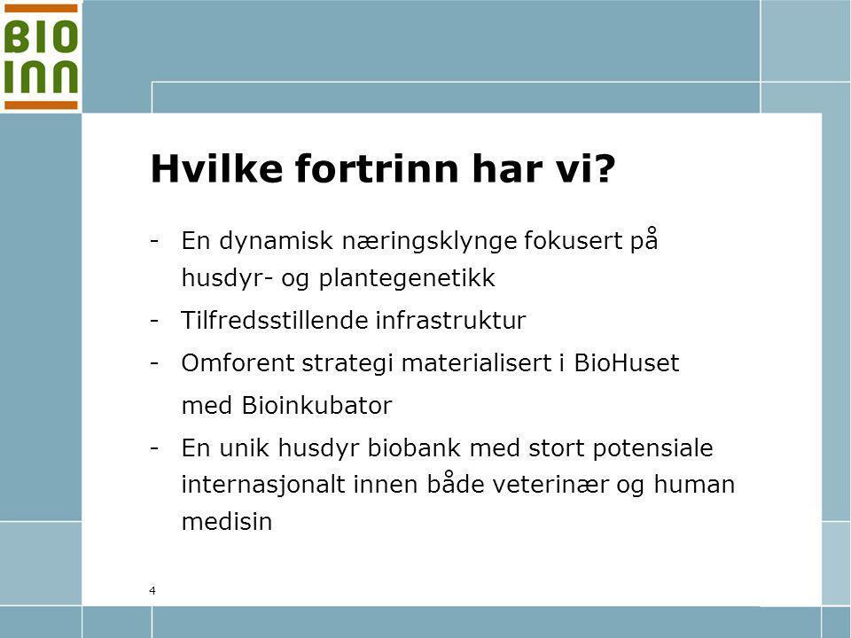 5 Hovedmål: Å videreutvikle den bioteknologiske næringsklyngen i Hamar-regionen.