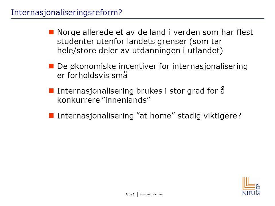 www.nifustep.no Page 3 Internasjonaliseringsreform.