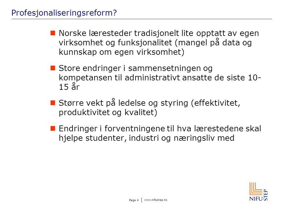 www.nifustep.no Page 4 Profesjonaliseringsreform.