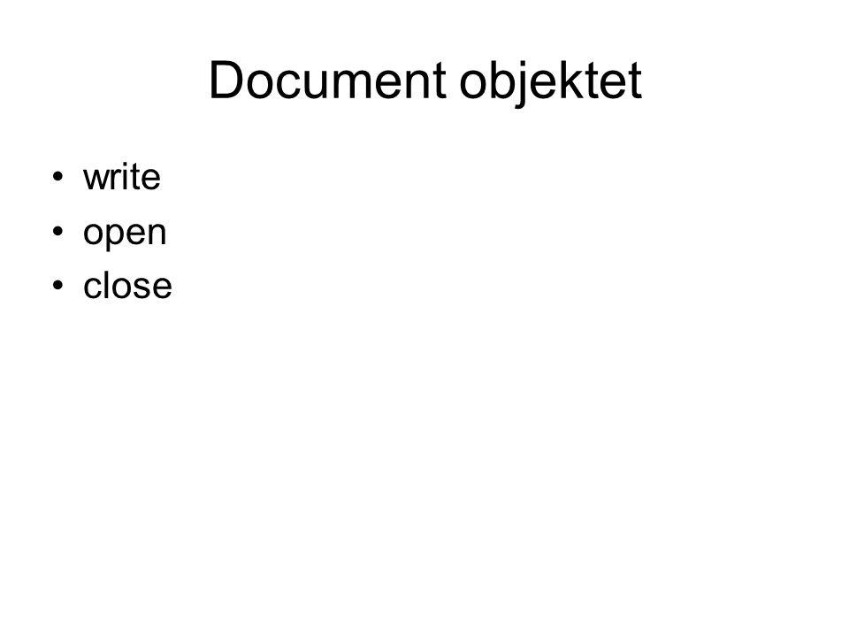 Location objektet host hostname href pathname port protocol search hash