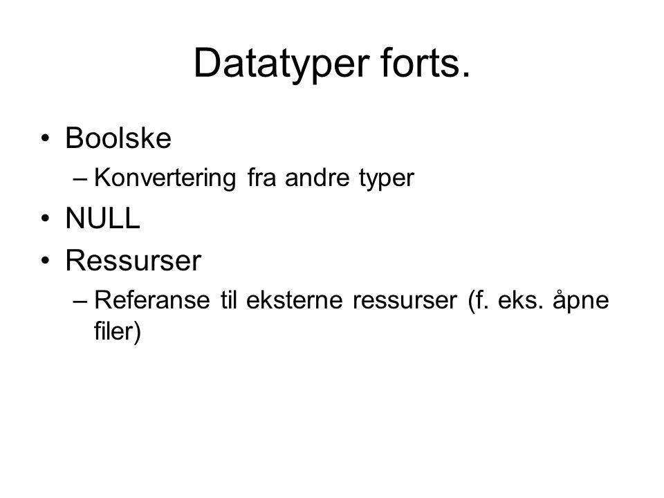 Datatyper forts.