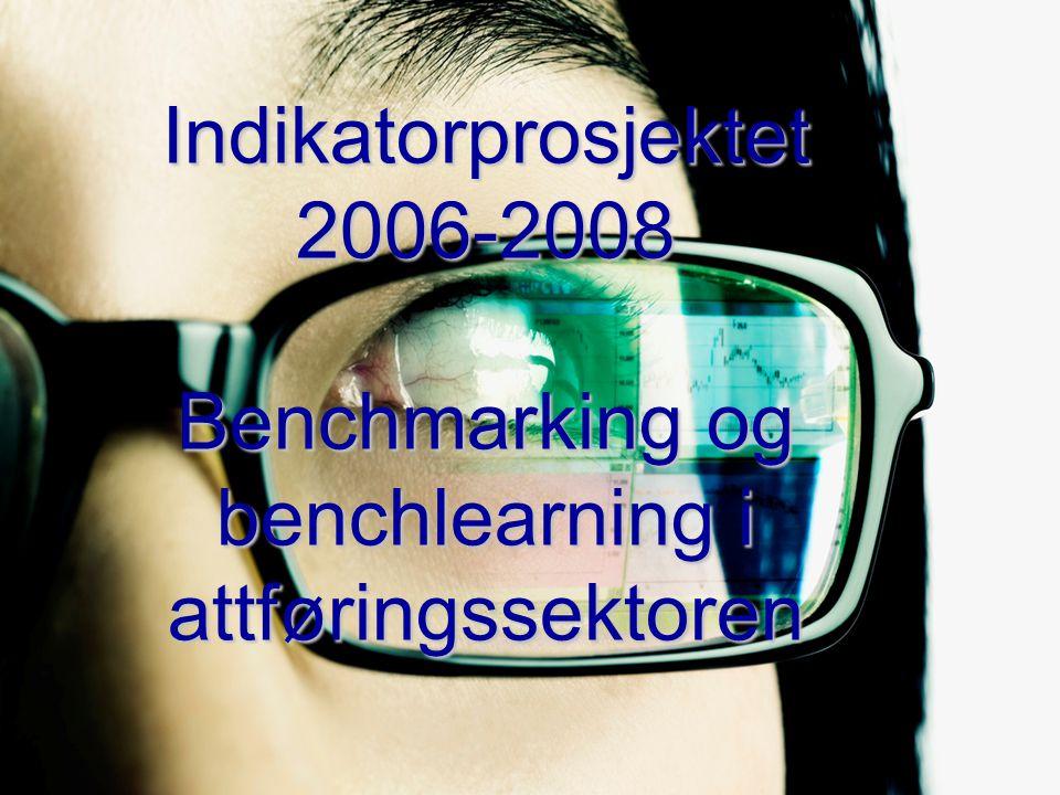 For virksomheter som vil: -Dele -Lære -Forbedre 2 Prosjektet har som målsetting å finne indikatorer for attføringsbedrifter som er: målbare sammenliknbare dekkende for hele virksomheten Prosjektet skal videre utvikle verktøy for målstyring og forbedringsverktøy knyttet til indikatorene (benchmarking og benchlearning) Indikatorprosjektet 2006-2008