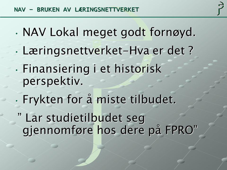 NAV – BRUKEN AV LÆRINGSNETTVERKET Saksbehandler søker inn.