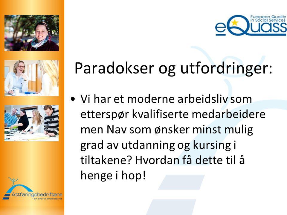 Paradokser og utfordringer: Vi har et moderne arbeidsliv som etterspør kvalifiserte medarbeidere men Nav som ønsker minst mulig grad av utdanning og kursing i tiltakene.