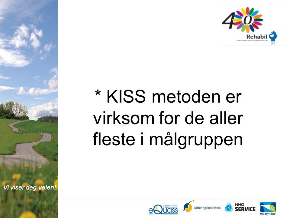 Vi viser deg veien! * KISS metoden er virksom for de aller fleste i målgruppen