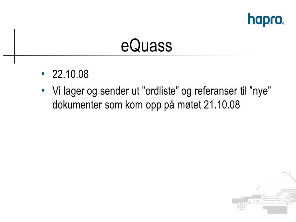 22.10.08 Vi lager og sender ut ordliste og referanser til nye dokumenter som kom opp på møtet 21.10.08