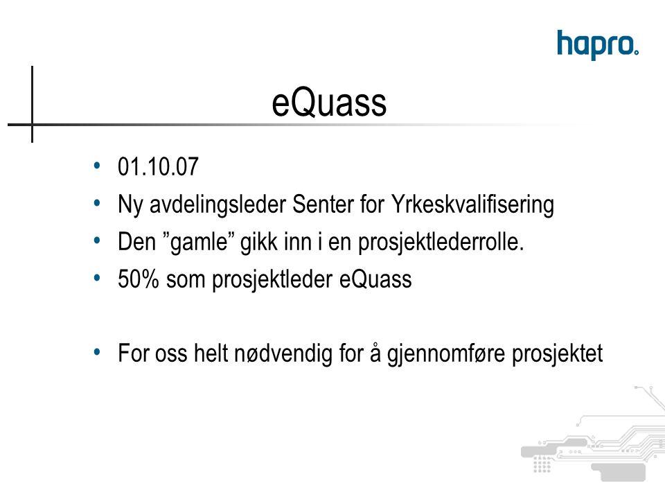 01.10.07 Ny avdelingsleder Senter for Yrkeskvalifisering Den gamle gikk inn i en prosjektlederrolle.