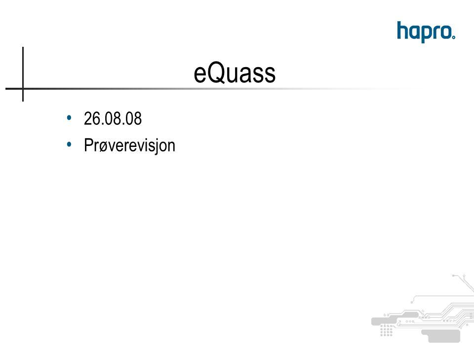26.08.08 Prøverevisjon eQuass