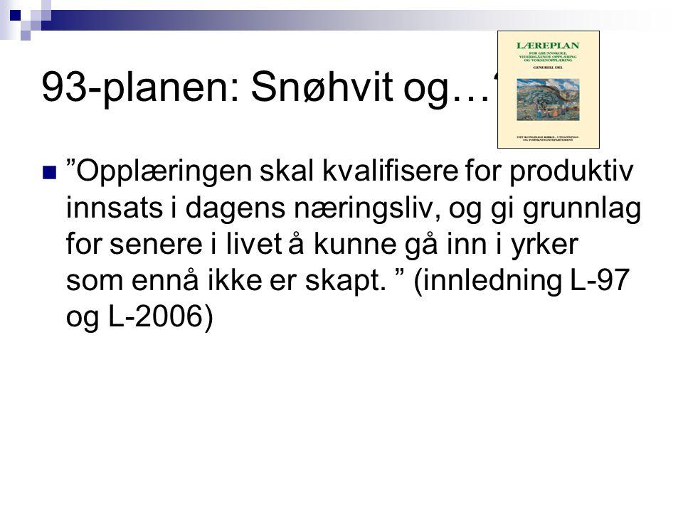 93-planen: Snøhvit og….