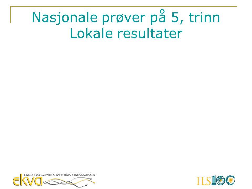 Nasjonale prøver på 5, trinn Lokale resultater