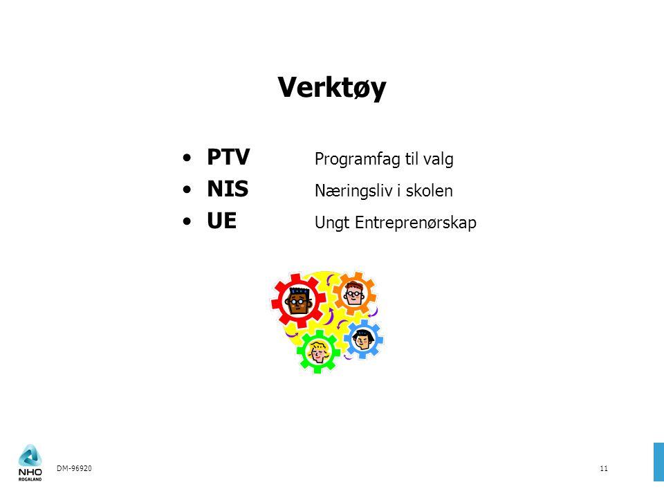 DM-9692011 Verktøy PTV Programfag til valg NIS Næringsliv i skolen UE Ungt Entreprenørskap