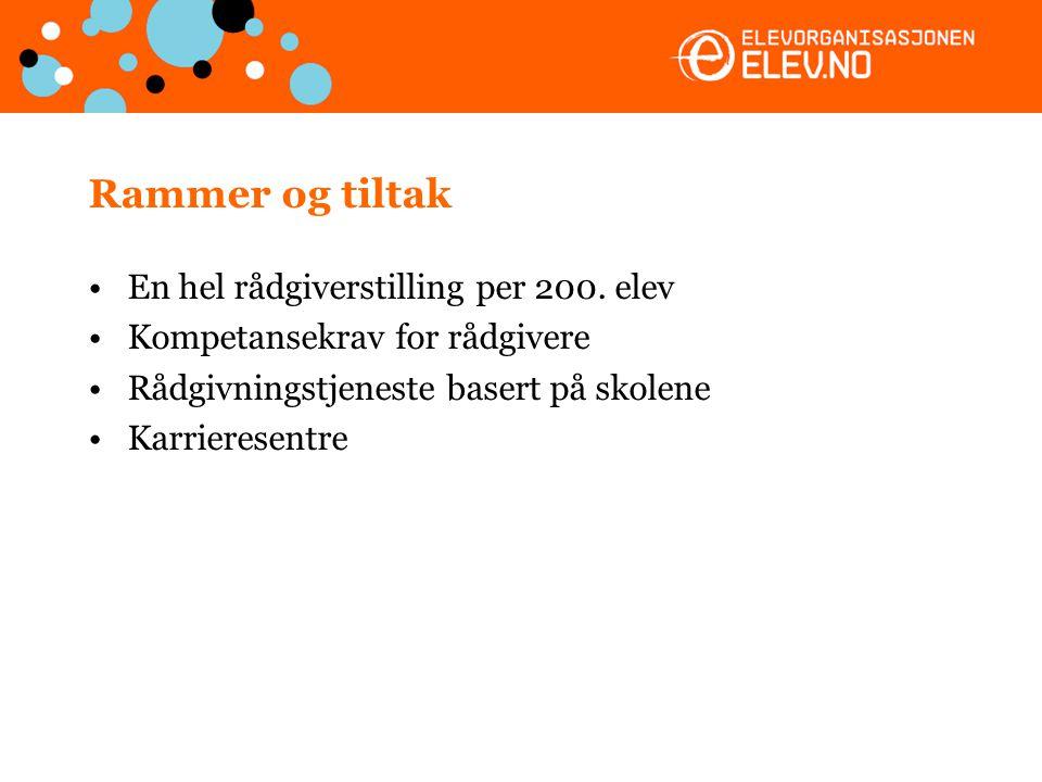 Utfordringer i undervisningen Norske elever er lite faglig motiverte Lite arbeidsrettet undervisning Lite motiverende lærere Norske elever oppnår ikke spesielt gode resultater i lesing, matematikk og naturfag sammenlignet med andre land –Hvordan kan man velge?