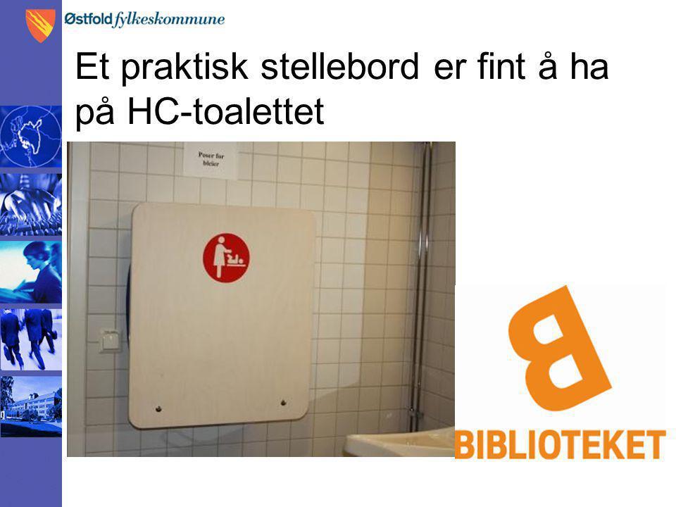 Et praktisk stellebord er fint å ha på HC-toalettet