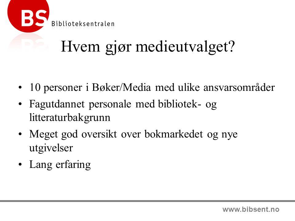 www.bibsent.no Hvor får bibliotekene info.BS Katalogene - 26 kataloger pr.