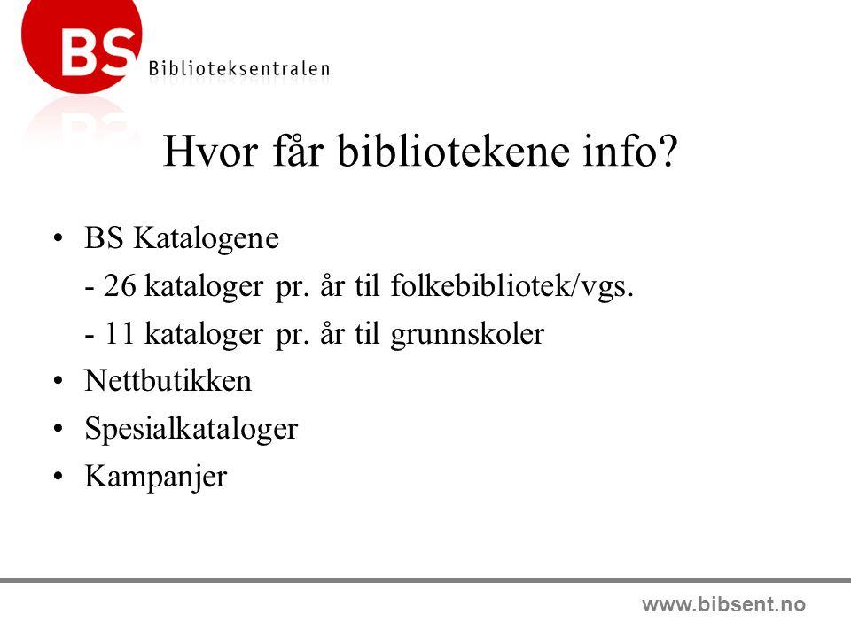 www.bibsent.no Fokus skolebibliotek Medievalgstjeneste tilpasset skolebibliotek 4 forskjellige pakkestørrelser Fokus skolebibliotek omfatter: Norske barne og ungdomsbøker Lydbokpakker