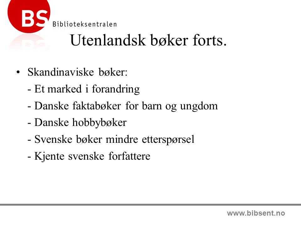 www.bibsent.no Konsulenttjenester Emnetilbud Hjelp til oppbygging av grunnstammer Fagseminarer