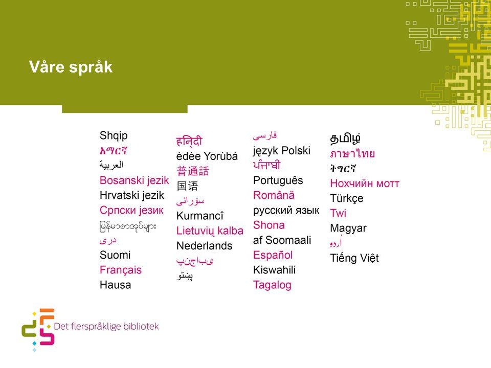 Våre språk