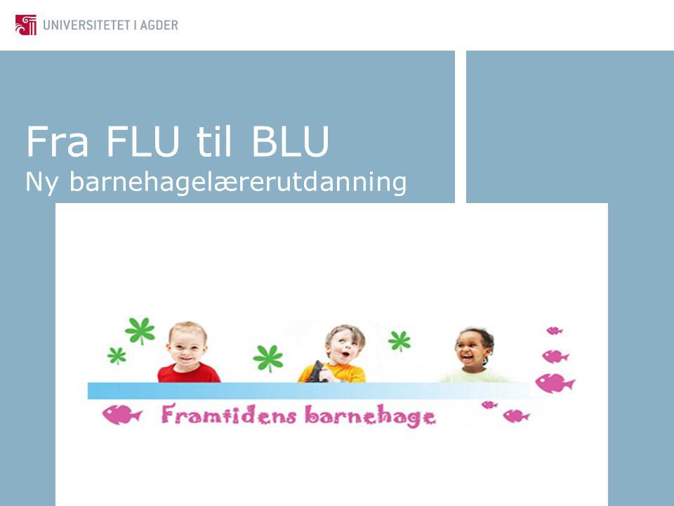 Fra FLU til BLU Ny barnehagelærerutdanning
