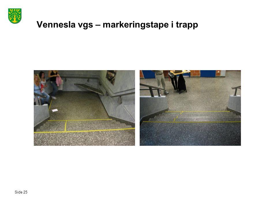 Vennesla vgs – markeringstape i trapp Side 25