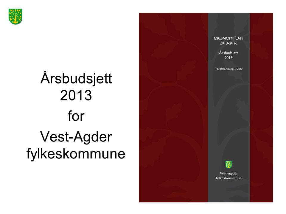 Årsbudsjett 2013 for Vest-Agder fylkeskommune