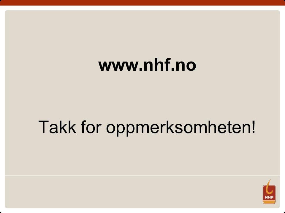 www.nhf.no Takk for oppmerksomheten!