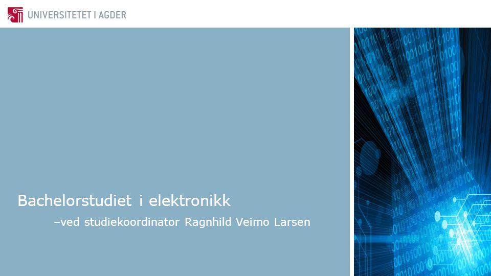 Bachelorstudiet i elektronikk –ved studiekoordinator Ragnhild Veimo Larsen
