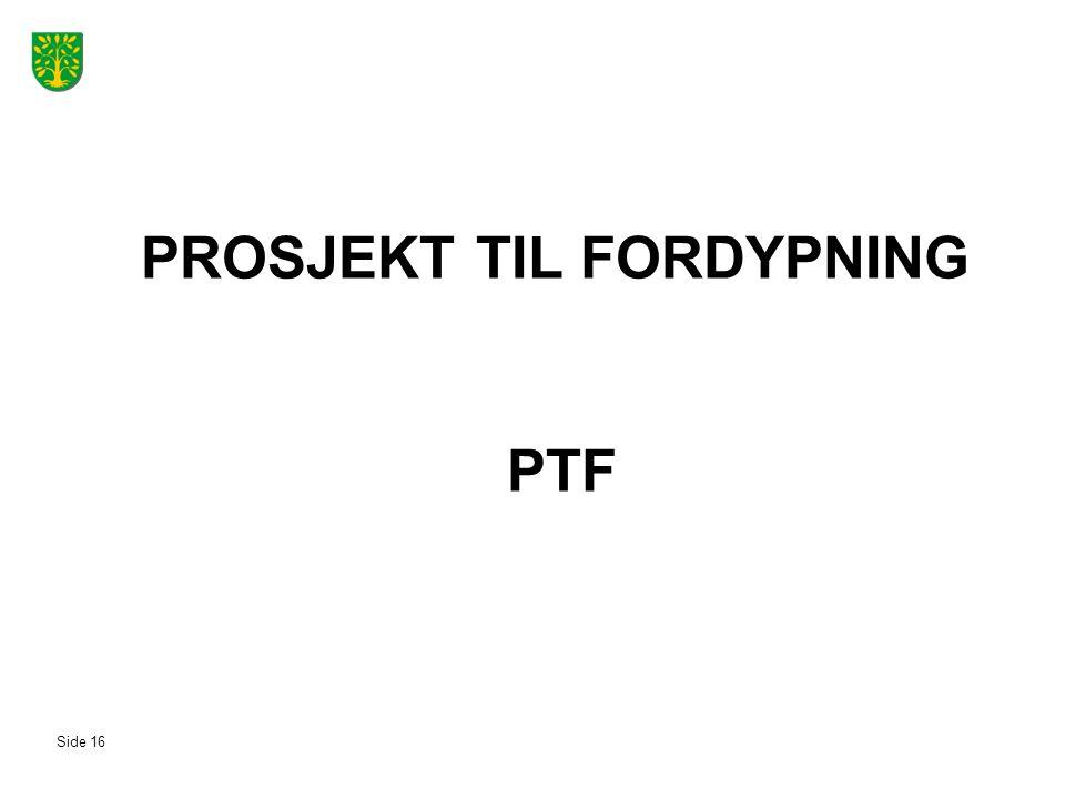 PROSJEKT TIL FORDYPNING PTF Side 16