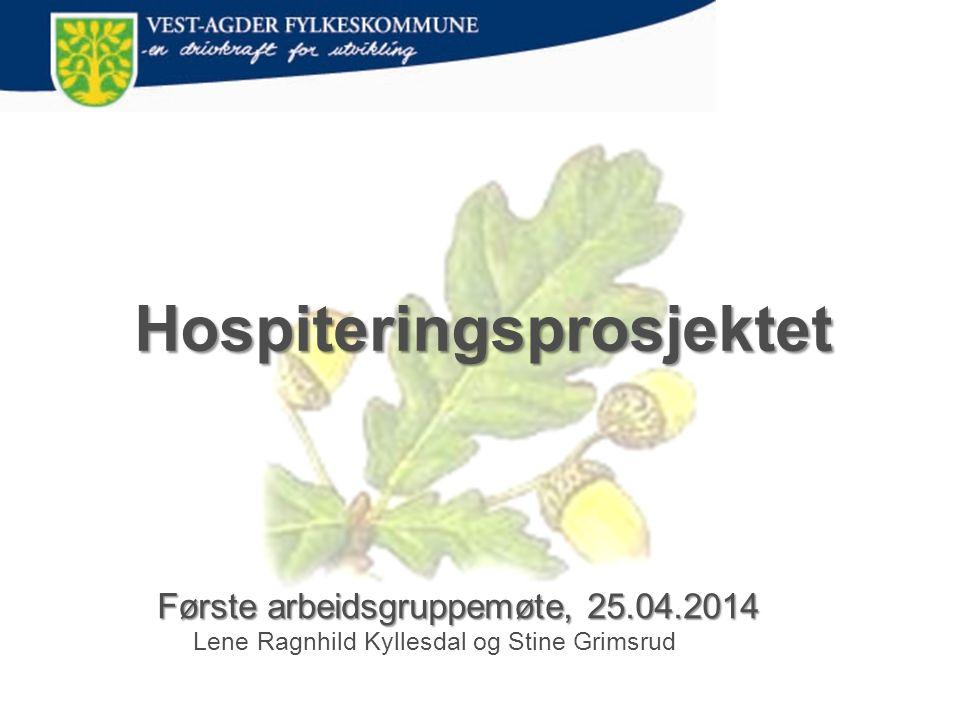 Hospiteringsprosjektet Første arbeidsgruppemøte, 25.04.2014 Første arbeidsgruppemøte, 25.04.2014 Lene Ragnhild Kyllesdal og Stine Grimsrud