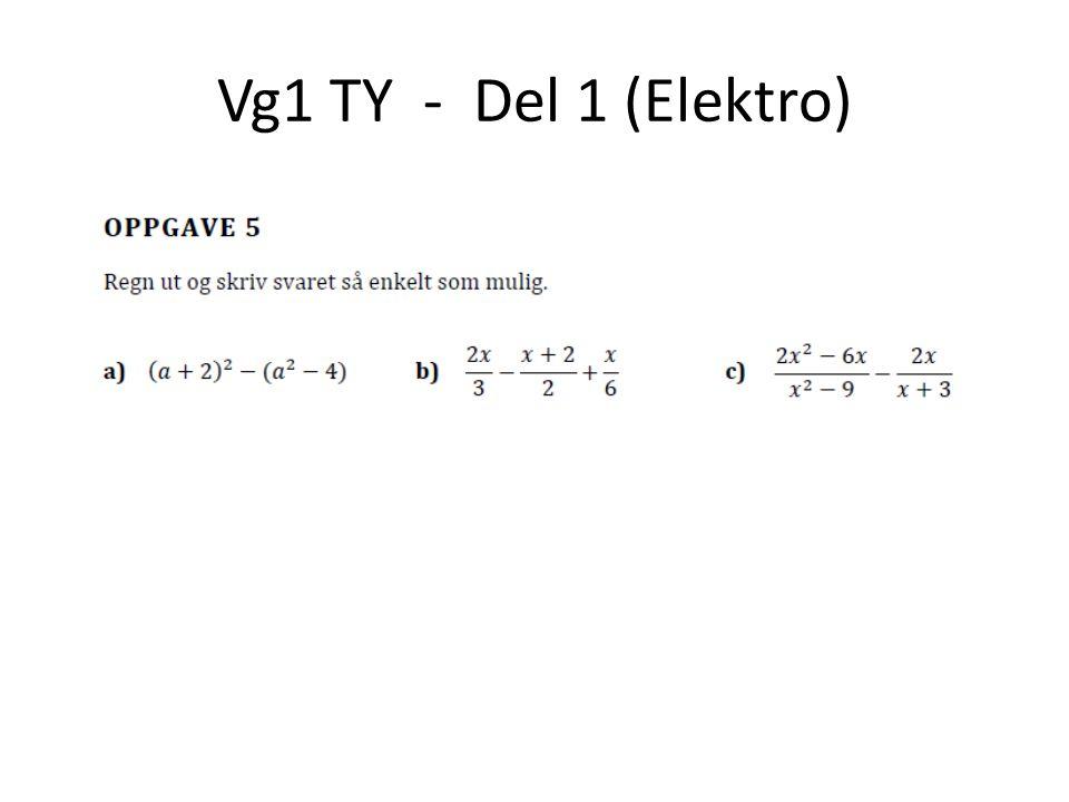 Vg1 TY - Del 2 (Elektro)