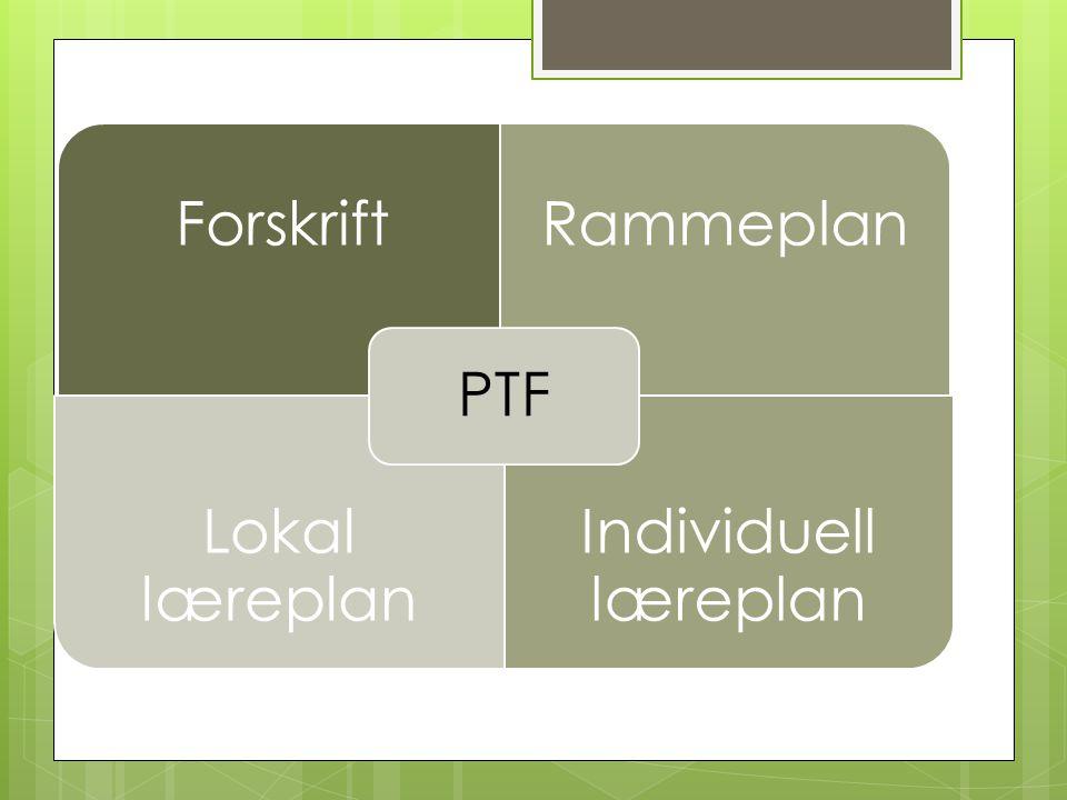 Lokal læreplan  Samarbeid  Reelt valg  Tilpasset nivå og formål med faget  Angi hva eleven skal mestre  Skal inneholde mål om dokumentasjon  Skoleeiers ansvar