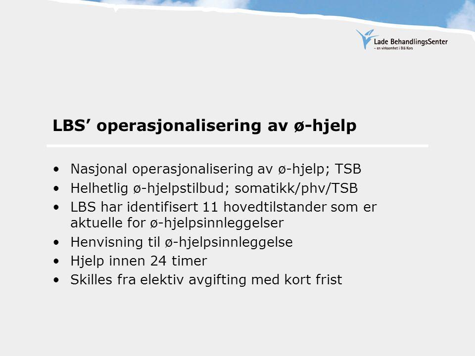 LBS' operasjonalisering (1)Gravide med aktivt rusmisbruk.
