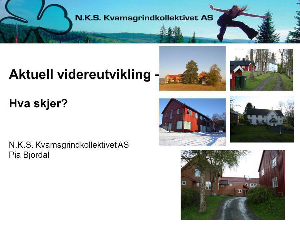 Aktuell videreutvikling - Hva skjer? N.K.S. Kvamsgrindkollektivet AS Pia Bjordal